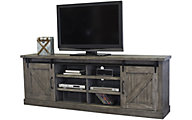 Martin Furniture Avondale Gray 86-Inch Barn Door Console