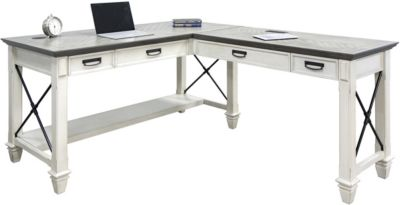Martin Furniture Hartford White Corner Desk