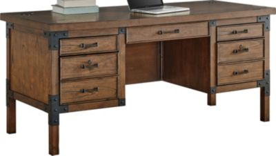 Martin Furniture Addison Half Pedestal Desk