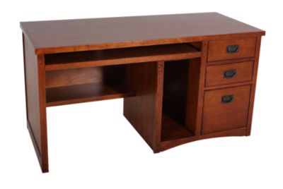 Martin Furniture Mission Single Pedestal Desk