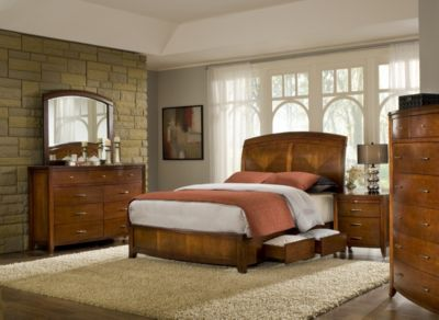 Modus Furniture Brighton 4-Piece King Storage Bedroom Set