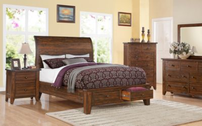 Modus Furniture Cally 4-Piece King Storage Bedroom Set