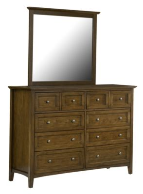 Modus Furniture Paragon Brown Dresser with Mirror