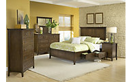 Modus Furniture Paragon Brown Queen Storage Bedroom Set