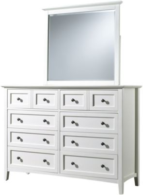Modus Furniture Paragon White Dresser with Mirror
