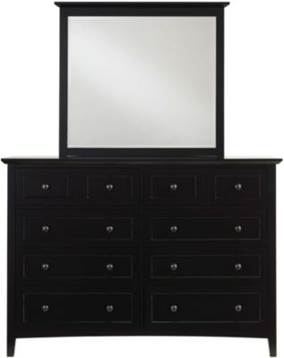 Modus Furniture Paragon Black Dresser with Mirror