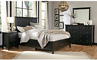 Modus Furniture Paragon Black 4-Piece Queen Bedroom Set