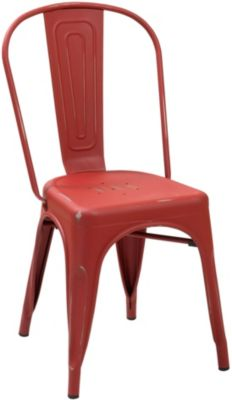 Modus Furniture Sawyer Red Metal Side Chair