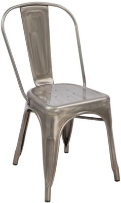 Modus Furniture Sawyer Silver Metal Side Chair