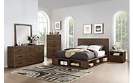 Modus Furniture McKinney 4-Piece King Storage Bedroom Set