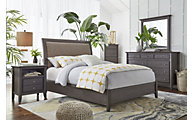 Modus Furniture City II Gray 4-Piece Queen Bedroom Set