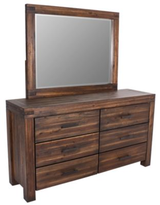 Modus Furniture Meadow Brown Dresser with Mirror