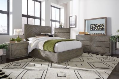 Modus Furniture Herringbone 4-Piece King Bedroom Set