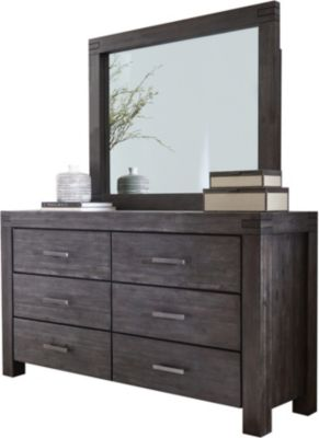 Modus Furniture Meadow Graphite Dresser with Mirror