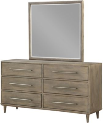 Modus Furniture Spindle Dresser with Mirror