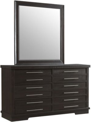 Martin Svensson Home Waterfront Espresso Dresser with Mirror