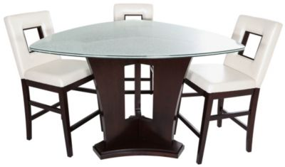 Najarian soho triangle counter table 3 stools homemakers furniture - Triangle kitchen table set ...