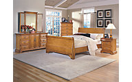 New Classic Honey Creek 4-Piece Queen Sleigh Bedroom Set