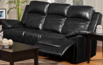 New Classic Cortez Black Power Reclining Sofa