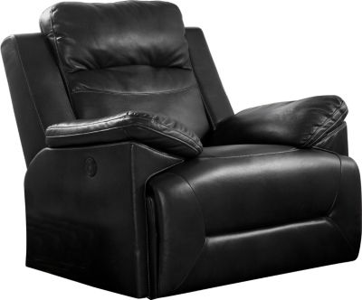 New Classic Cortez Black Power Glider Recliner