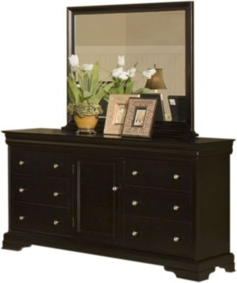 New Classic Belle Rose Dresser with Mirror