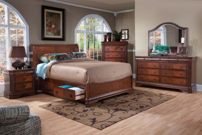 New Classic Sheridan 4 Piece King Sleigh Storage Bedroom