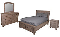 New Classic Allegra 4-Piece King Storage Bedroom Set