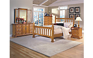 New Classic Honey Creek 4-Piece King Poster Bedroom Set