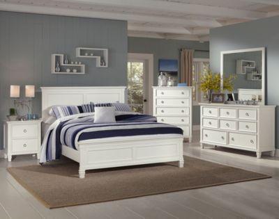 New Classic Tamarack White 4 Piece King Bedroom Set