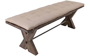 New Classic Tuscany Park Bench with Cushion