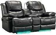 New Classic Flynn Reclining Loveseat with Console