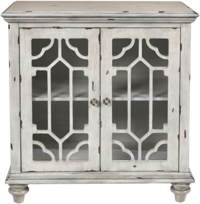 New Classic Enzo Antique Gray Storage Cabinet