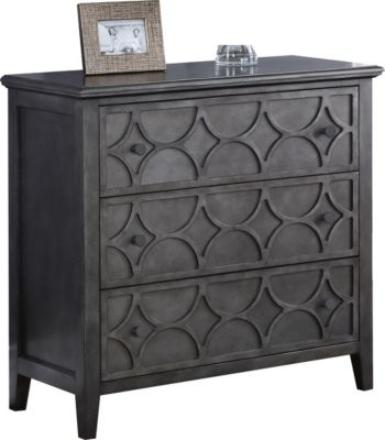 New Classic Lucia Antique Brown Storage Console Table