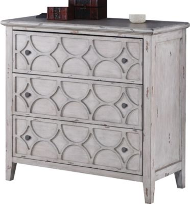 New Classic Lucia Antique Gray Storage Console Table