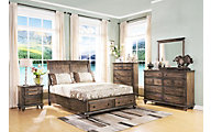 New Classic Fallbrook 4-Piece Queen Storage Bedroom Set