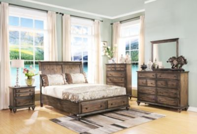 New Classic Fallbrook 4-Piece King Storage Bedroom Set