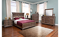 New Classic Lakeport Pewter 4-Piece Queen Bedroom Set