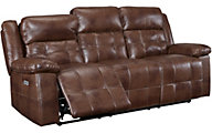 New Classic Clayton Recline Sofa w/Power Headrest