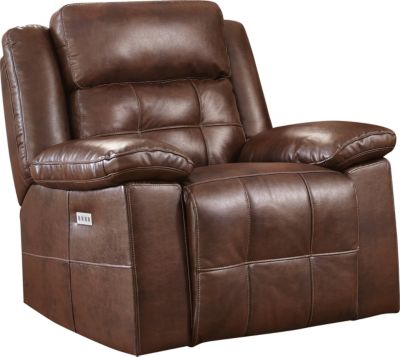 New Classic Clayton Power Glider Recliner with Power Headrest