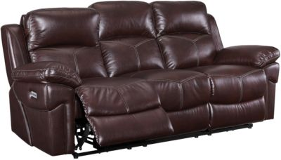 New Classic Warner Power Reclining Sofa w/Power Headrests