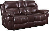 New Classic Warner Power Recline Loveseat w/Power Headrest