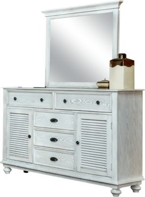 New Classic Lakeport Driftwood Dresser with Mirror