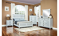 New Classic Lakeport Driftwood 4-Piece King Bedroom Set