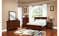 New Classic Tamarack Brown Cherry 4-Piece Queen Bedroom Set