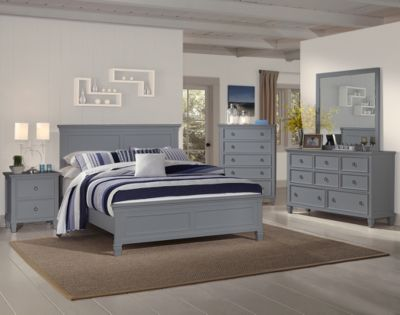 New Classic Tamarack Gray 4-Piece Queen Bed Bedroom Set