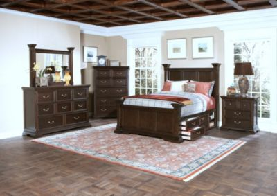 New Classic Timber City 4-Piece King Storage Bedroom Set
