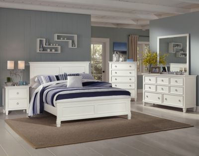New Classic Tamarack White 4-Piece King Bedroom Set