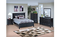 New Classic Tamarack Black 4-Piece Queen Bedroom Set