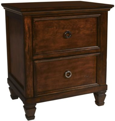 New Classic Tamarack Brown Cherry Nightstand