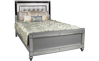 New Classic Valentino Silver Queen Bed